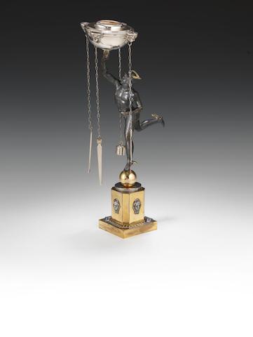 ref 477 Roman silver lamp h. cm 48