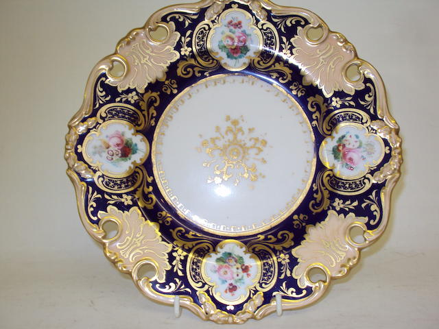 An early 19th century English porcelain dessert service