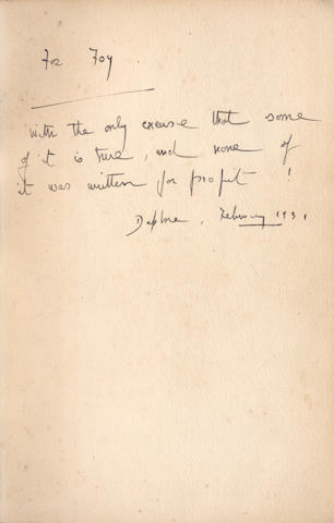 DU MAURIER (DAPHNE) A collection of 13 works by Du Maurier, AUTHOR'S PRESENTATION COPIES, INSCRIBED TO FOY QUILLER-COUCH (13)