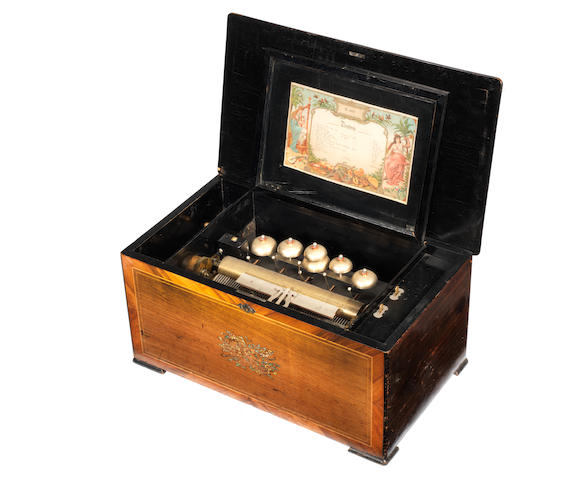 A large Timbres-Visible musical box, playing twelve airs, circa 1890,