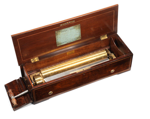 A key-wind 'Tradesman's' musical box, by Nicole Freres, circa 1861,