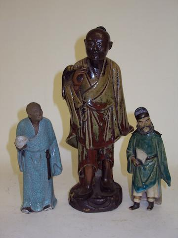 A collection of Chinese stoneware figures, 20th century