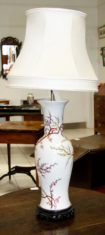 A Chinese porcelain baluster vase 20th Century