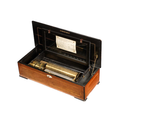 A two-per-turn musical box, by Nicole Freres circa 1885 - one of the latest Nicole serial numbers known,