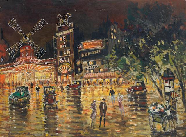Konstantin Alexeevich Korovin (Russian, 1861-1939) Le Moulin Rouge