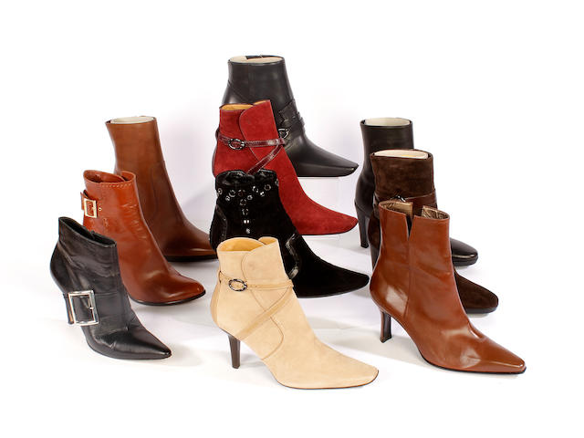 Ten pairs of designer boots, including Tod's, Stuart Weitzman, Gina and Louis Vuitton boots