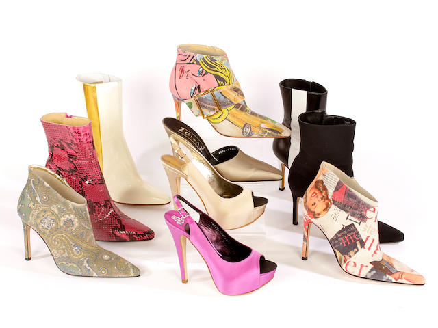 Ten pairs of Gina shoes, sandals and boots