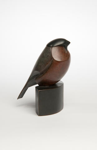 Robert Aberdein (born 1963) Bullfinch 14cm high,