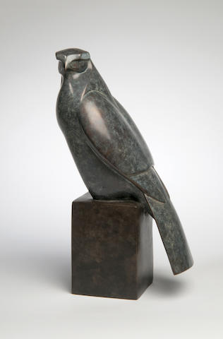 Robert Aberdein (born 1963) Falcon 35cm high.