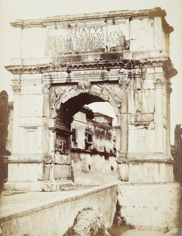 PHOTOGRAPHY. MACPHERSON (ROBERT) Arch of Titus, from the Temple of Venus and Rome, [c.1860]