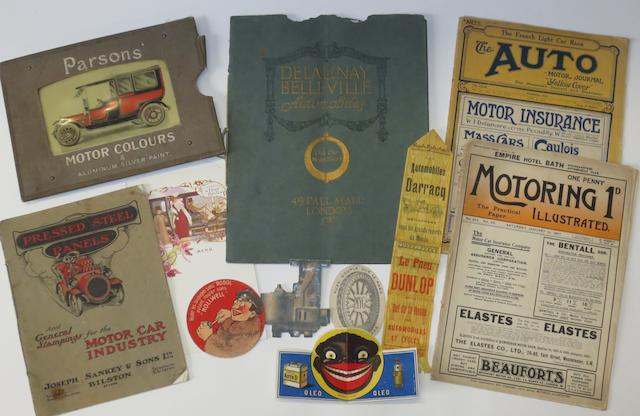 Assorted sales literature and ephemera,