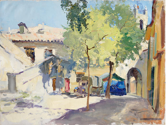 Constantin Kluge (French, 1912-2003) Place du village