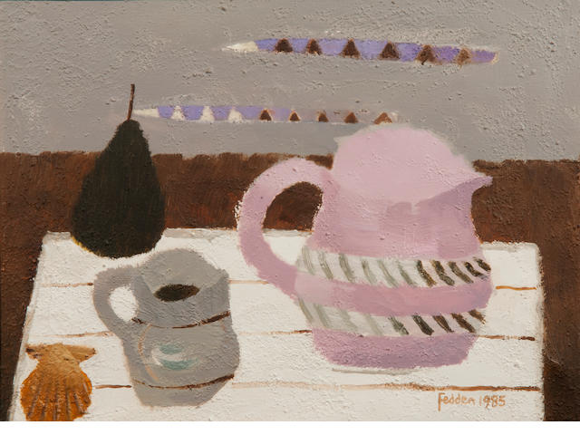 Mary Fedden R.A. (British, 1915-2012) 'Jugs'
