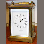 A brass cased carriage clock by Eastwood of Barnsley, 4