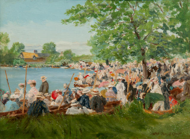Percy Robert Craft (British, 1856-1934) Regatta on the Camb