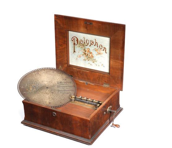 A 15.5/8-inch Polyphon disc musical box,