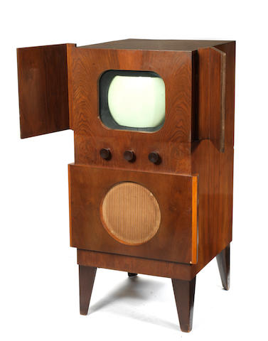 A Murphy type V134C television set consolette, 1948,