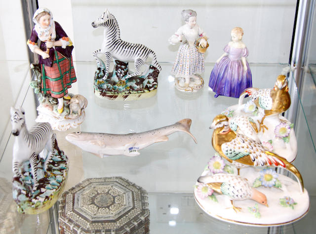 A collection of British and Continental ceramic figurines various dates and makers