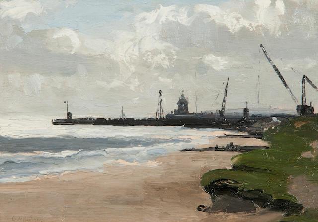Campbell Archibald Mellon (British, 1876-1955) Gorleston Pier, Great Yarmouth