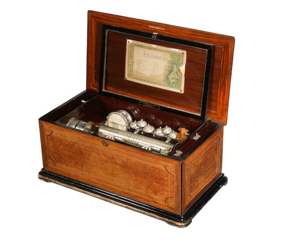 A 'Full Orchestra' musical box, by G. Baker, circa 1894,