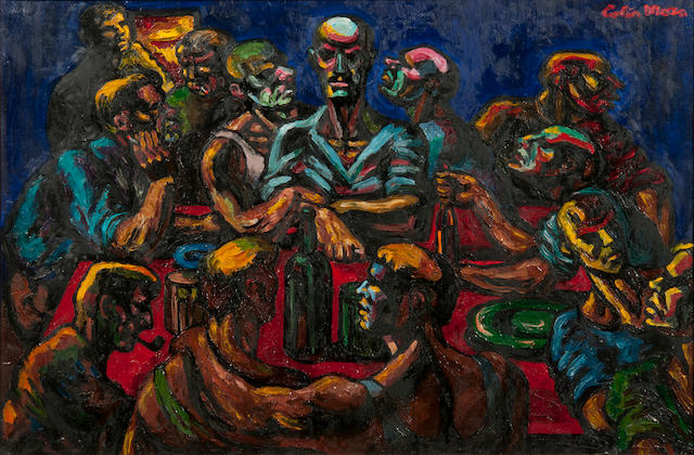 Colin Moss (British, 1914-2005) Study for the last supper