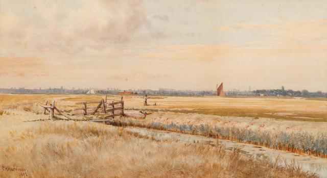 Charles Harmony Harrison (British, 1842-1902) Acle marshes