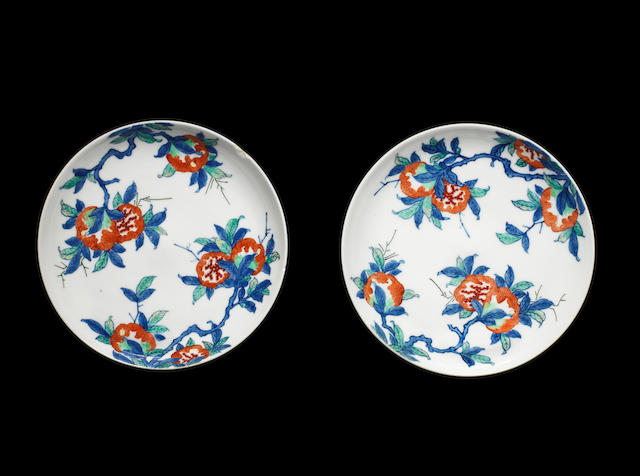 A pair of Nabeshima saucer dishes