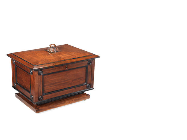 A mahogany cellaret, possibly by George Bullock