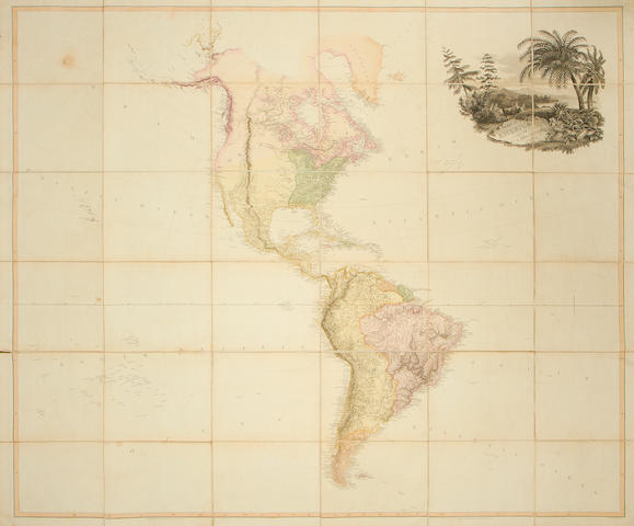 MAPS AND ATLASES. ARROWSMITH (AARON) Map of America, 1804