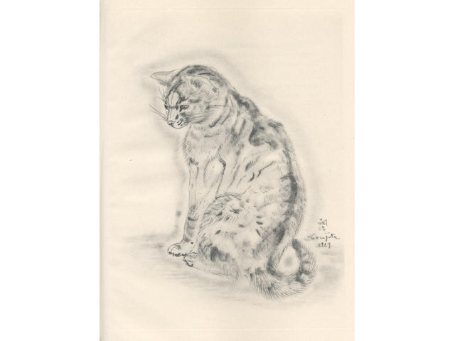 FOUJITA (TSUGUHARU) JOSEPH (MICHEL) A Book of Cats. Being Twenty Drawings by Foujita. Poems in Prose by Michael Joseph, NUMBER 301 OF 500 COPIES, SIGNED BY THE ARTIST, 1930
