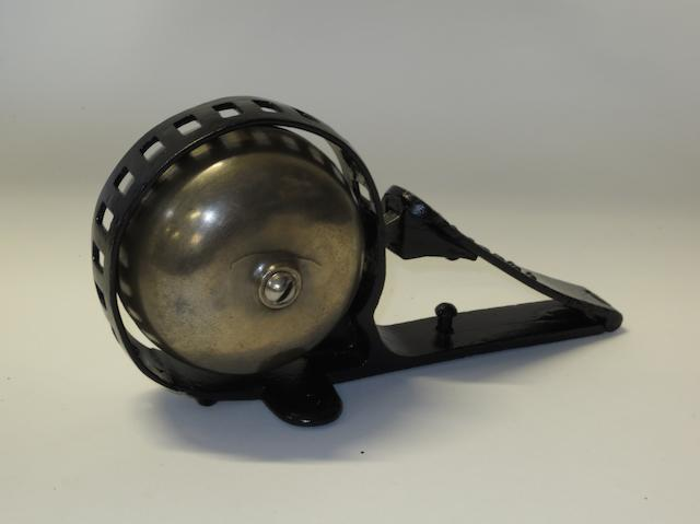 A floor mounting warning bell by Gibbons of Southampton,