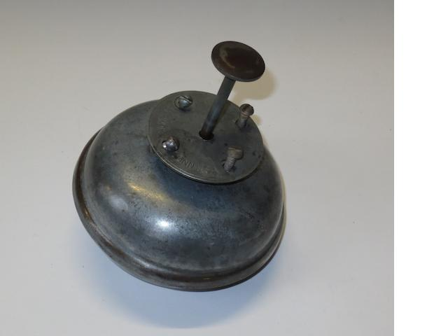 An underfloor warning bell by Starr Bros, East Hampton, Connecticut,