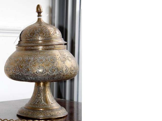 An eastern brass incence burner