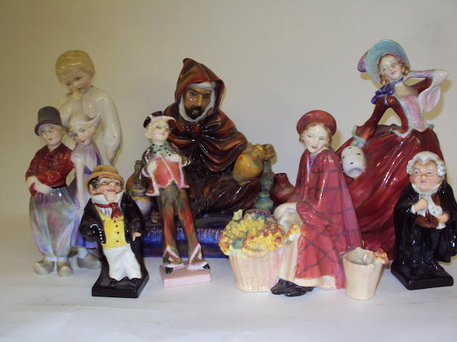 A collection of Royal Doulton figurines