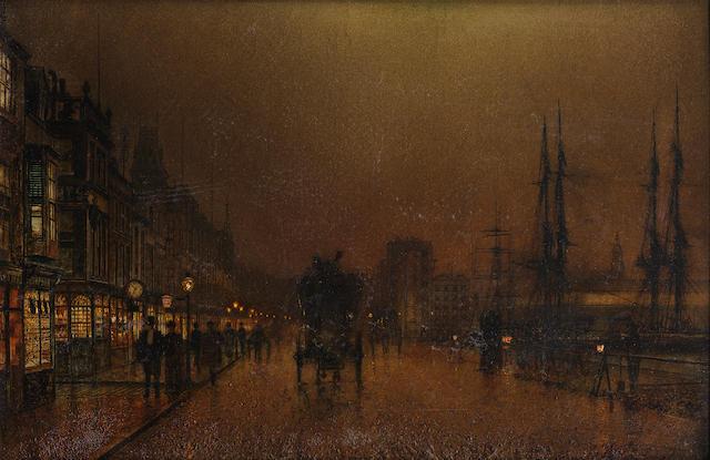 John Atkinson Grimshaw (British, 1836-1893) Glasgow docks