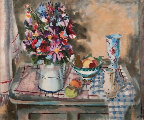 Rowland Suddaby (British, 1912-1973) Flowers and fruit