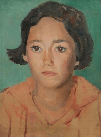 Mary Potter (British, 1900-1981) Portrait of Joscelyn Farjeon