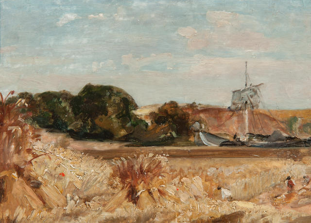 Thomas Churchyard (British, 1798-1865) The Sutton shore from Martlesham with ship