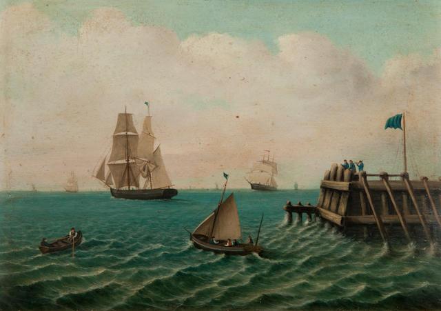 Ellis (?), 19th Century 'Harwich old jetty'