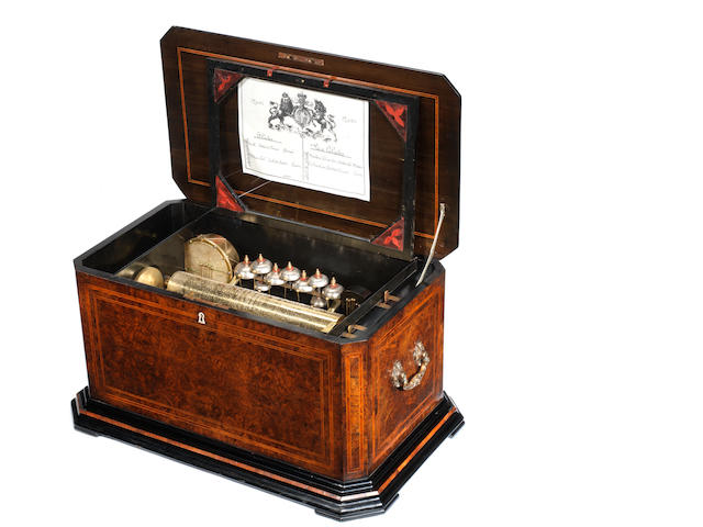 A fine and large orchestral musical box, by Bremond,  circa 1880,