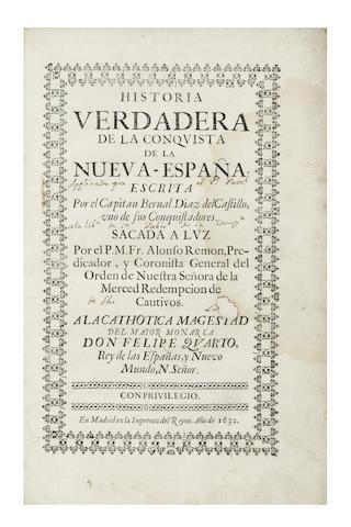 DIAZ DEL CASTILLO (BERNAL) Historia verdadera de la conquista de la Nueva-Espana, 1632