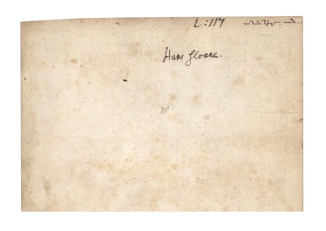 GUIDOTT (THOMAS) De thermis Britannicis tractatus, HANS SLOANE'S COPY, 1691