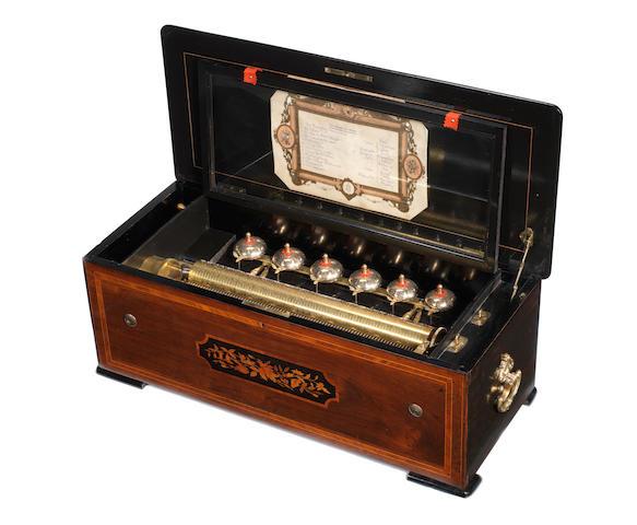 A Bells-en-Vue musical box, by Paillard Vaucher et fils, circa 1878,