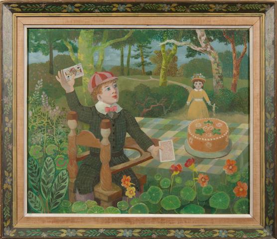 """Sir John Verney """"Toyland"""" oil"""