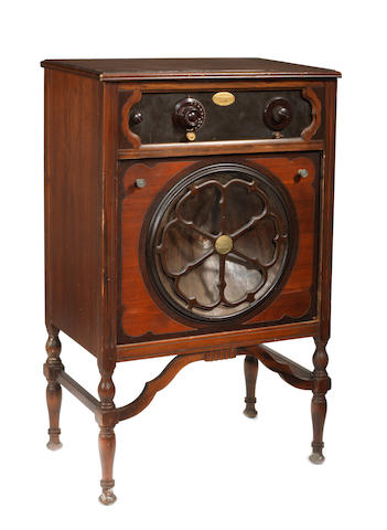 An Atwater Kent type 36 wireless receiver, circa 1927, Pooley  console conversion,