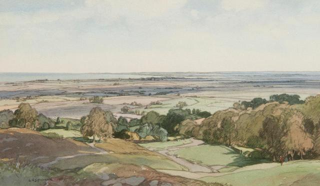 Leonard Russell Squirrell, R.W.S., R.I., R.E. (British, 1893-1979) Romney Marsh, Kent