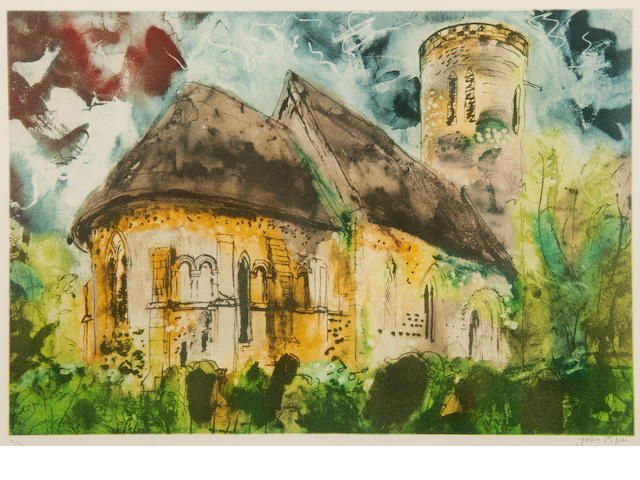 John Piper C.H. (British, 1903-1992) Hales Church, Norfolk