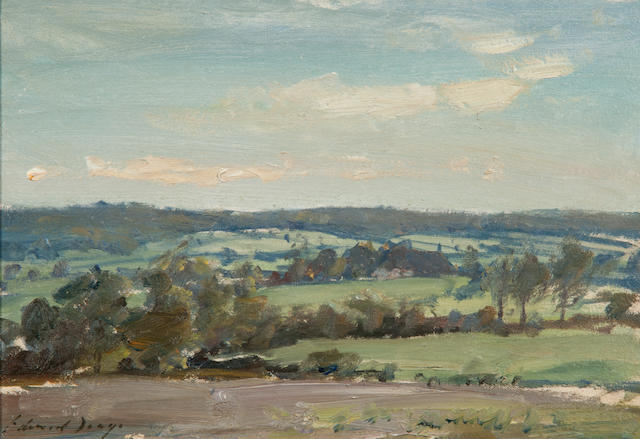 Edward Seago R.W.S. (British, 1910-1974) Extensive landscape