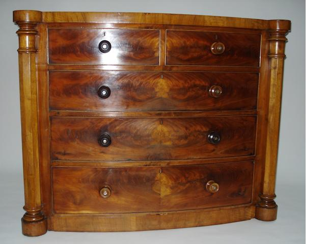 A 19th century mahogany bowfront chest
