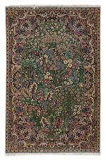 A part silk Kashan rug